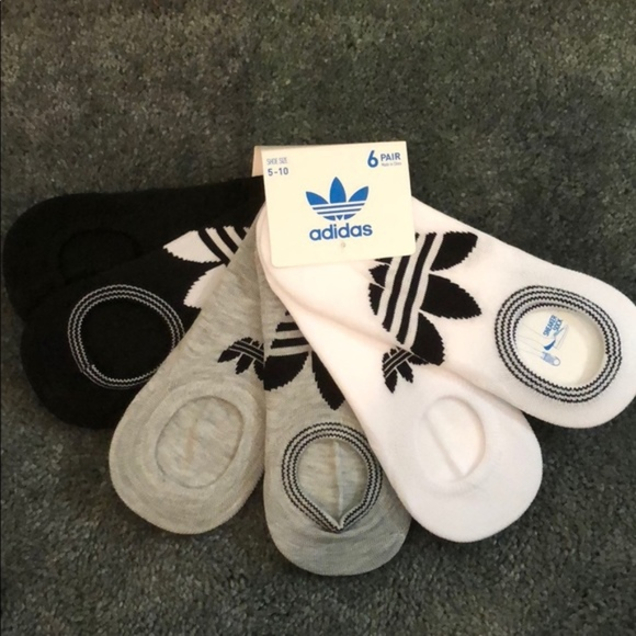 official photos c0bbd 10b53 Adidas Originals Trefoil 6-pack no-show socks NWT